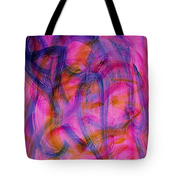 Colorful Abstract Tote Bag by Natalie Holland