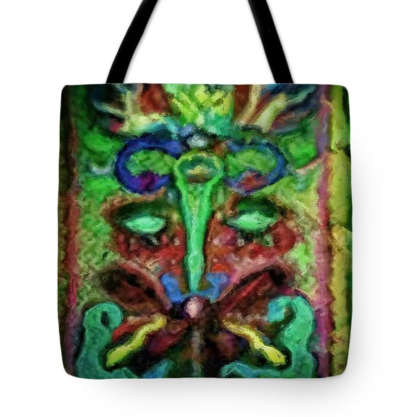 Colorful Abstract Painting Swirls And Dabs And Dots With Hidden Meaning And Secret Stories Of Birds  Tote Bag by MendyZ