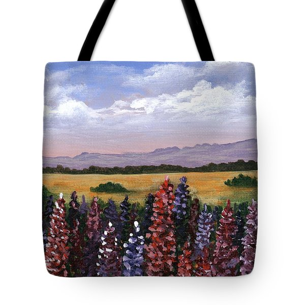 Tote Bag featuring the painting Colorful Afternoon by Anastasiya Malakhova