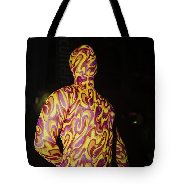 Colorful Anonymous Form Tote Bag