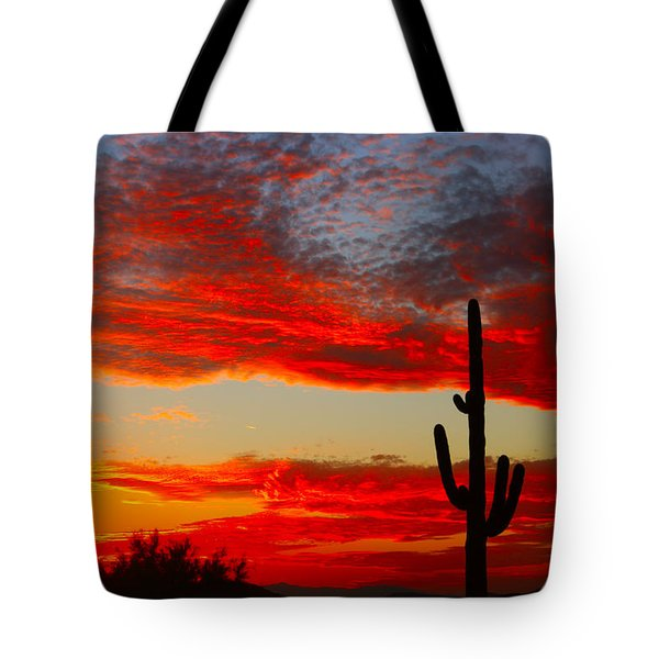 Colorful Arizona Sunset Tote Bag