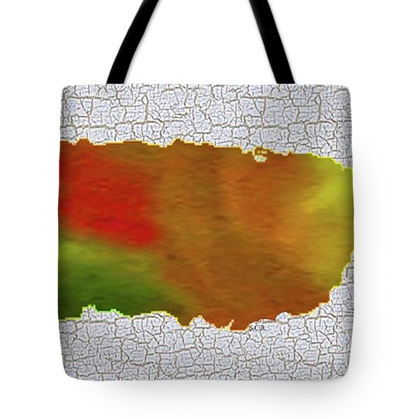 Colorful Art Puerto Rico Map Tote Bag