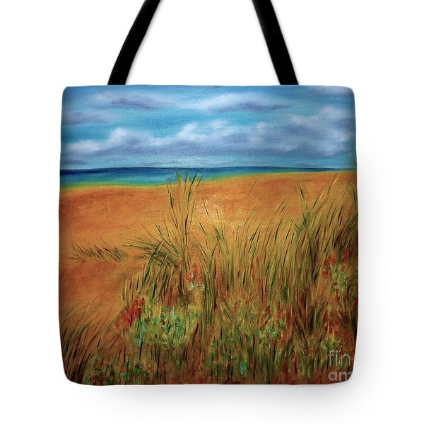 Colorful Beach Tote Bag