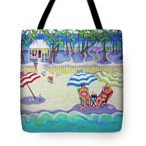 Colorful Beach Hideaway Tote Bag