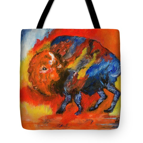 Colorful Bison Tote Bag