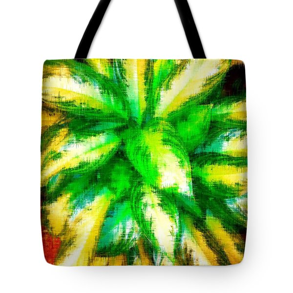 Tote Bag featuring the digital art Colorful Blast by Gayle Price Thomas