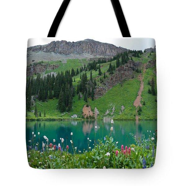Colorful Blue Lakes Landscape Tote Bag