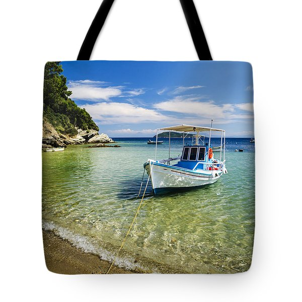 Colorful Boat Tote Bag