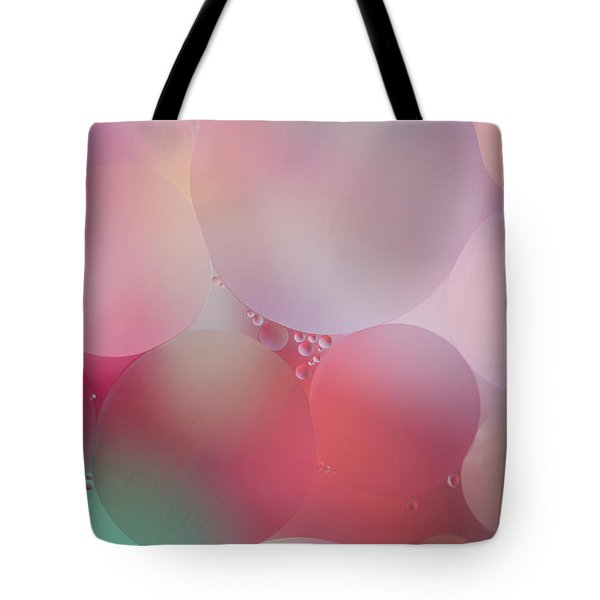 Tote Bag featuring the photograph Colorful Bubbles 2 by Elena Nosyreva