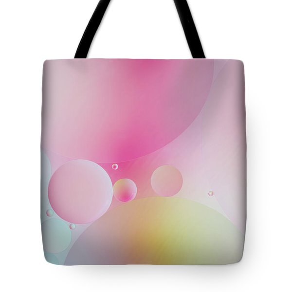 Tote Bag featuring the photograph Colorful Bubbles by Elena Nosyreva