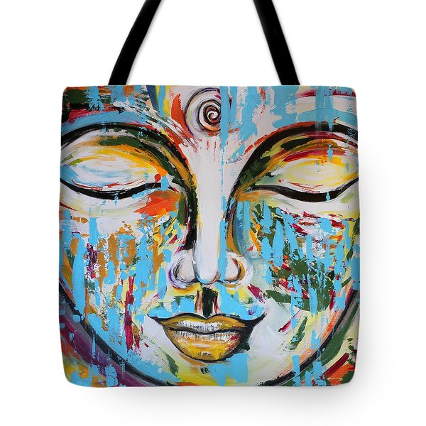 Colorful Buddha Tote Bag