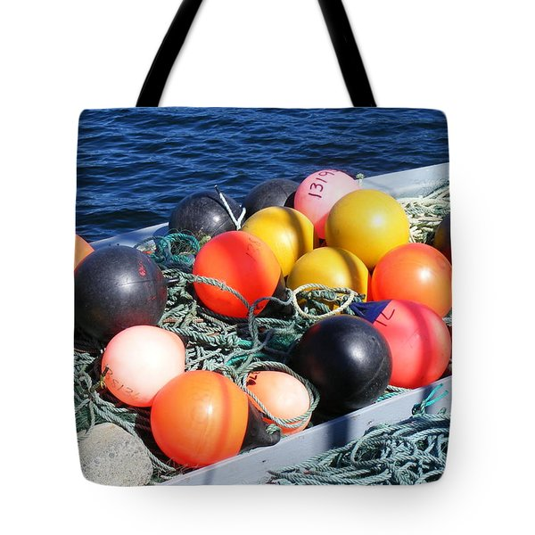 Colorful Buoys Tote Bag by Barbara Griffin