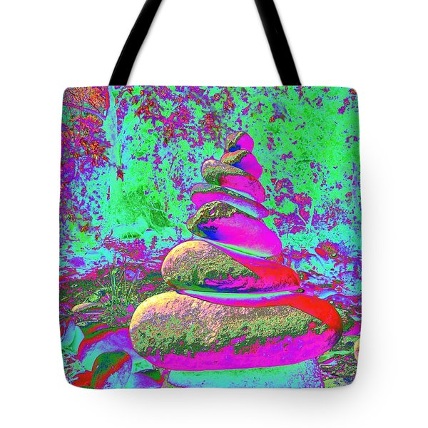 Colorful Cairn Tote Bag