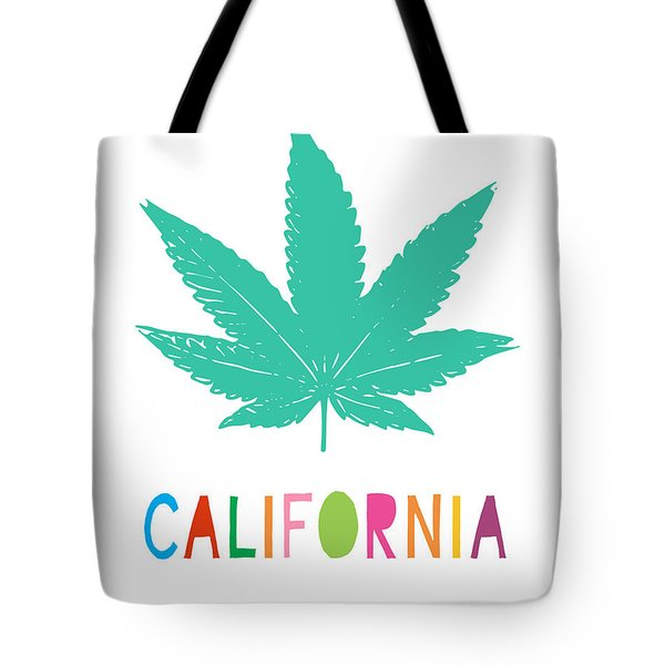 Colorful California Cannabis- Art By Linda Woods Tote Bag