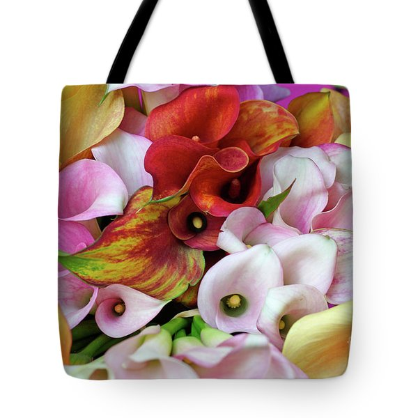 Colorful Calla Lilies Tote Bag