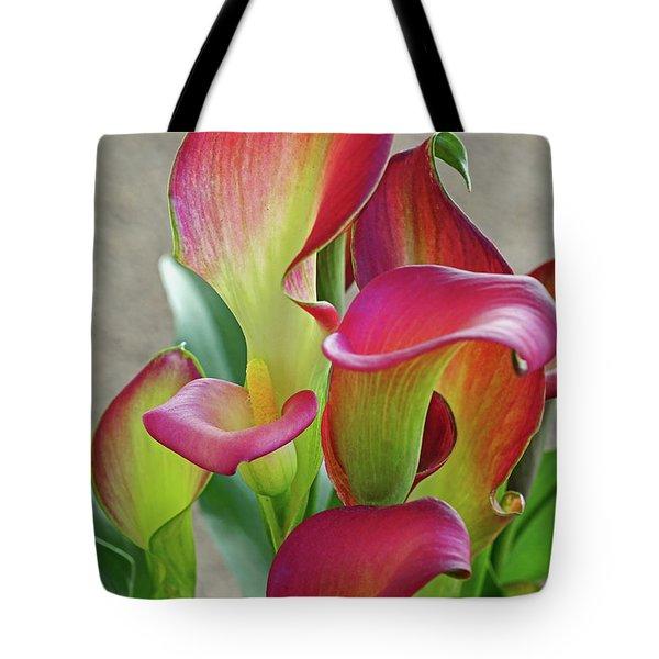 Colorful Calla Lillies Tote Bag