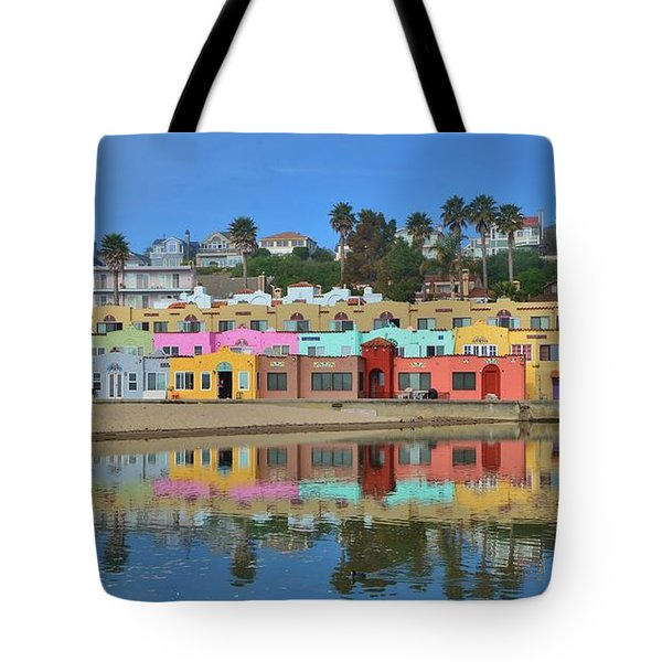 Colorful Capitola Venetian Hotel Tote Bag