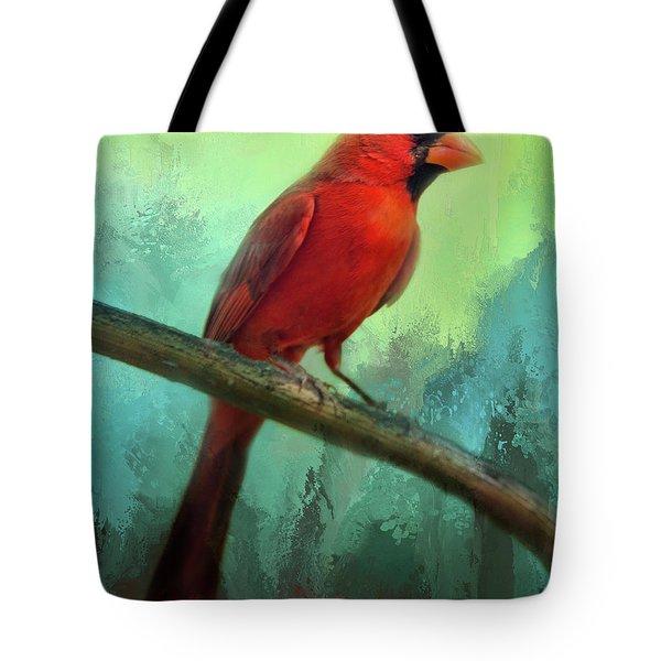 Colorful Cardinal Tote Bag