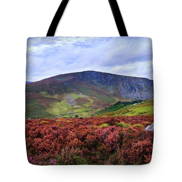 Tote Bag featuring the photograph Colorful Carpet Of Wicklow Hills by Jenny Rainbow