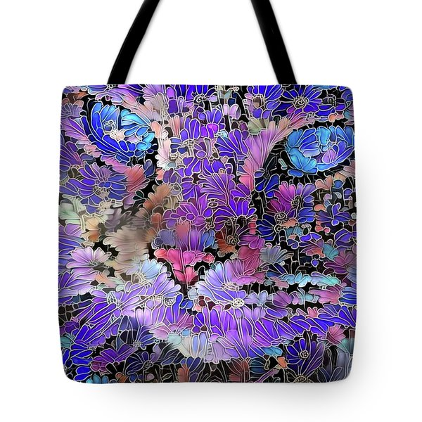 Tote Bag featuring the digital art Flower Cat 2 by Peggy Collins