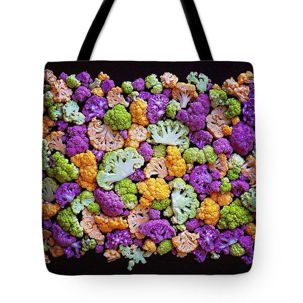 Colorful Cauliflower Mosaic Tote Bag