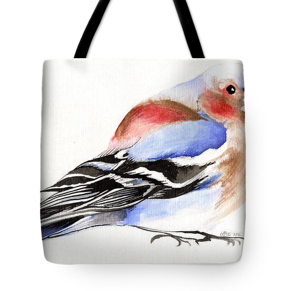 Colorful Chaffinch Tote Bag by Nancy Moniz