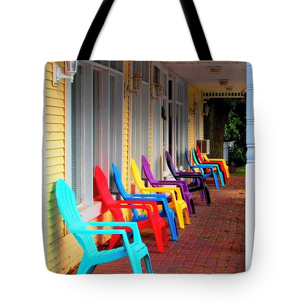 Colorful Chairs Tote Bag