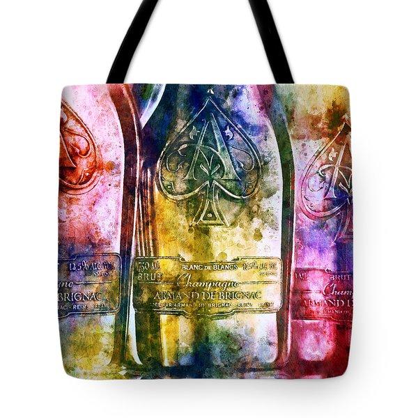 Colorful Champagne Tote Bag