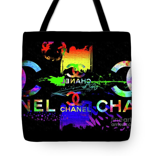 Colorful Chanel Art Tote Bag