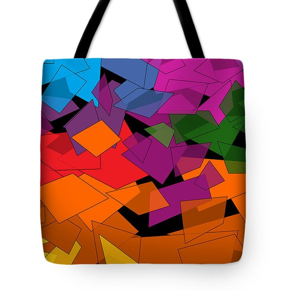 Colorful Chaos Two Tote Bag by Val Arie