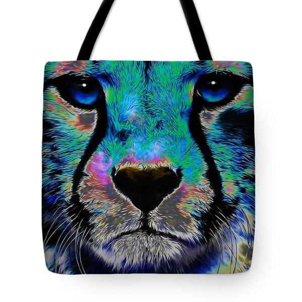 Colorful Cheetah Tote Bag
