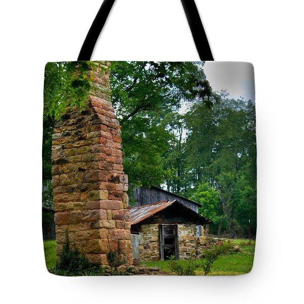 Colorful Chimney Tote Bag by Douglas Barnett