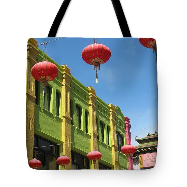 Colorful Chinatown Tote Bag