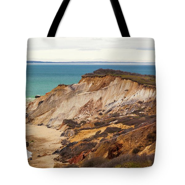 Tote Bag featuring the photograph Colorful Clay Cliffs On The Vineyard by Michelle Wiarda