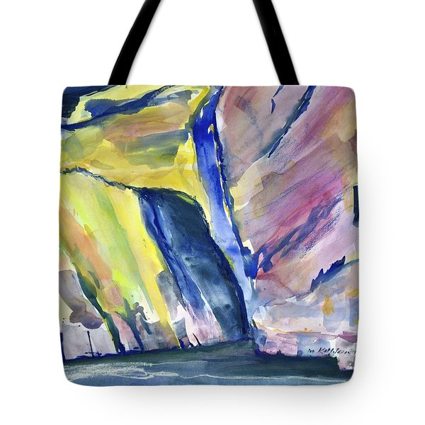Colorful Cliffs And Cave Tote Bag