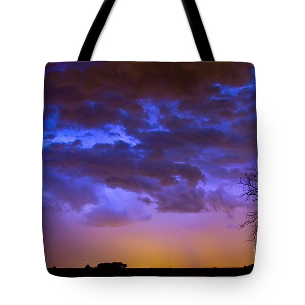 Colorful Cloud To Cloud Lightning Tote Bag by James BO  Insogna