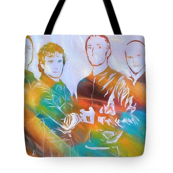 Colorful Coldplay Tote Bag