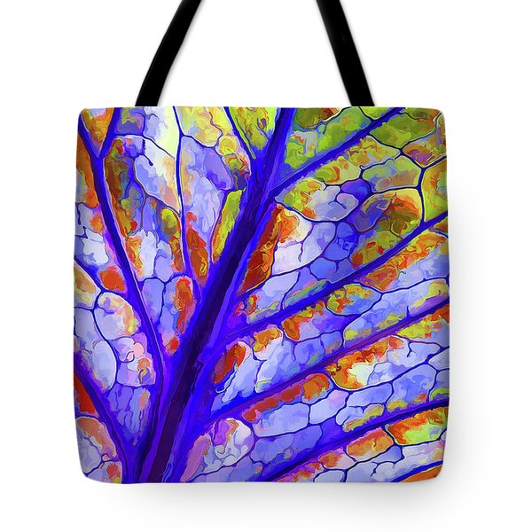 Colorful Coleus Abstract 6 Tote Bag