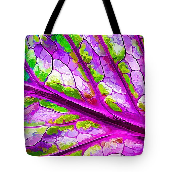 Colorful Coleus Abstract 2 Tote Bag