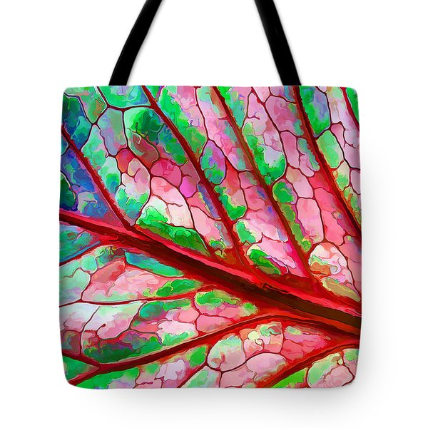 Colorful Coleus Abstract 5 Tote Bag