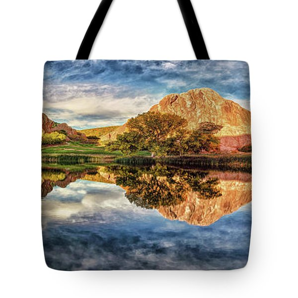 Tote Bag featuring the photograph Colorful Colorado - Panorama by OLena Art Brand