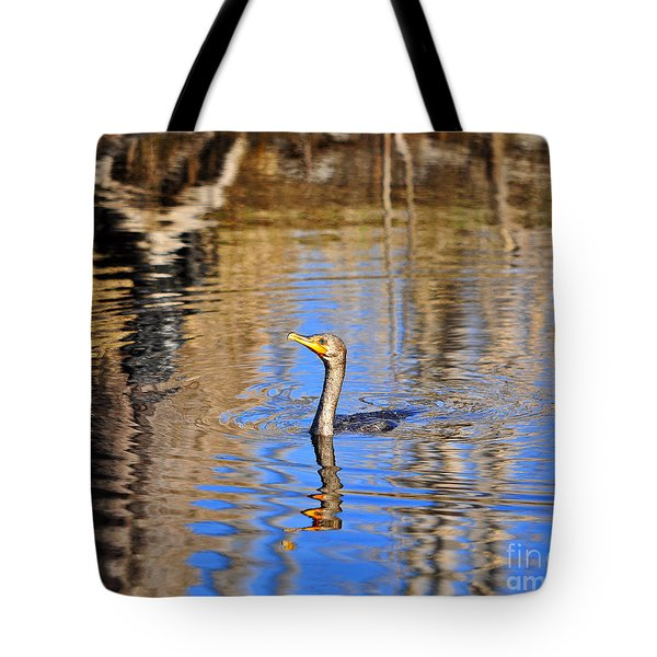 Tote Bag featuring the photograph Colorful Cormorant by Al Powell Photography USA