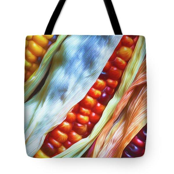 Colorful Corn 3 Tote Bag