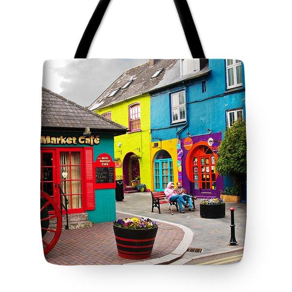 Colorful Corner Tote Bag
