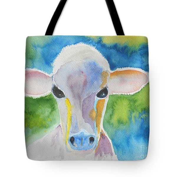 Colorful Cow Tote Bag by Christine Lathrop