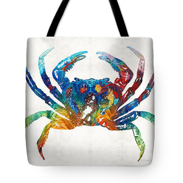 Colorful Crab Art By Sharon Cummings Tote Bag