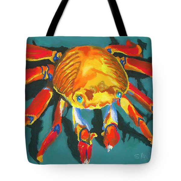 Colorful Crab II Tote Bag by Stephen Anderson