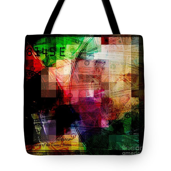 Tote Bag featuring the photograph Colorful Currency Collage by Phil Perkins