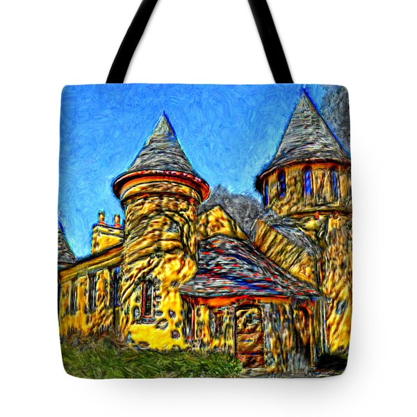 Colorful Curwood Castle Tote Bag by Bruce Nutting