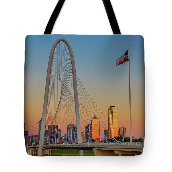 Colorful Dallas Sunset Tote Bag